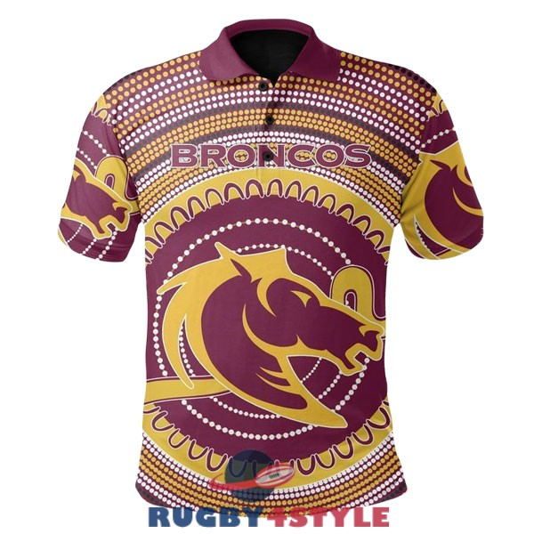 brisbane broncos rugby giallo rosso bianco 2020 2021 polo