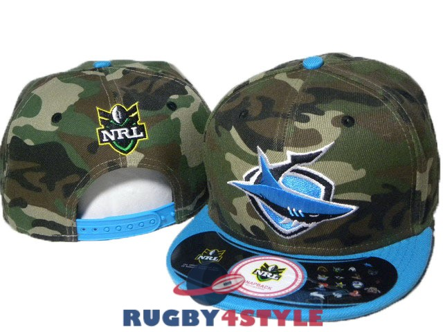 cronulla sutherland sharks NRL mimetico blu cappello [maglierugby2020-10-19-348]