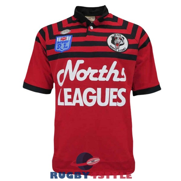 north sydney bears rugby vintage 1991 maglia