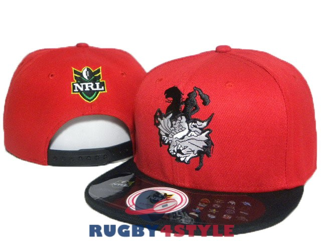 st george illawarra dragons NRL nero rosso A cappello [maglierugby2020-10-19-392]