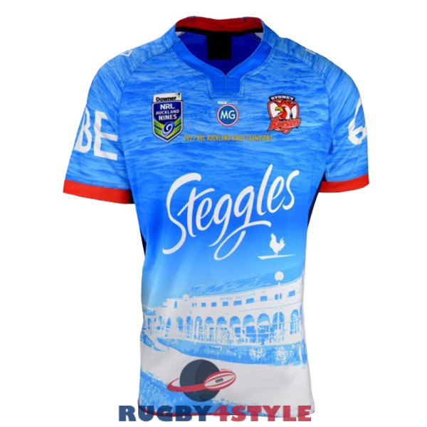 sydney roosters rugby edizione speciale territorio auckland 9s 2017 maglia