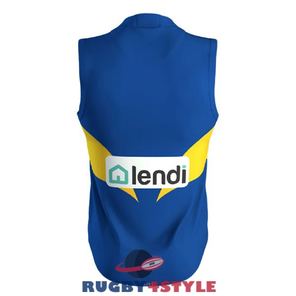 west coast eagles AFL Guernsey blu giallo 2020 2021 maglia<br /><span class=